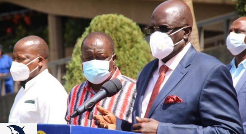 Ministry of Education CS George Magoha during a joint presser on January 3, 2021