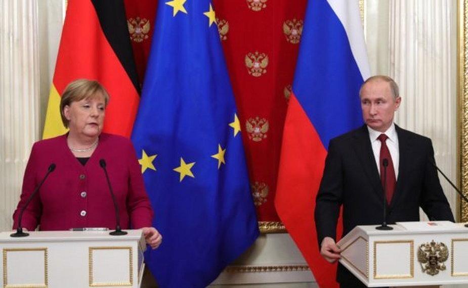 Konferencja prasowa Kanclerz Merkel i Prezydenta Putina fort. kremlin.ru Rosja Niemcy