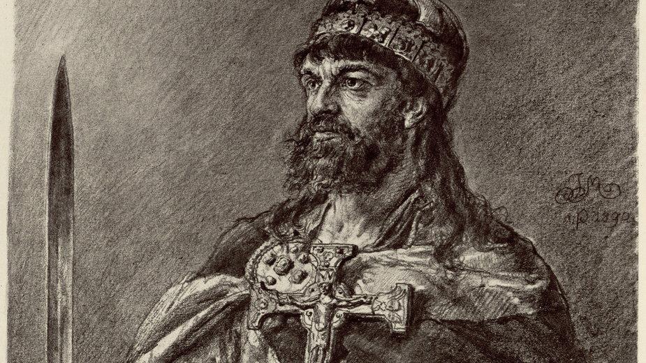 Reprodukcja portretu namalowanego przez Jana Matejke.