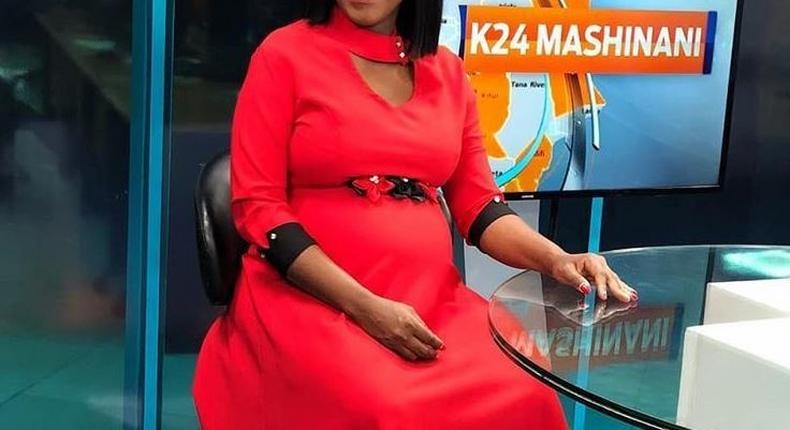 K24 News Anchor experiences Isabella Kituri labour scare on Live TV