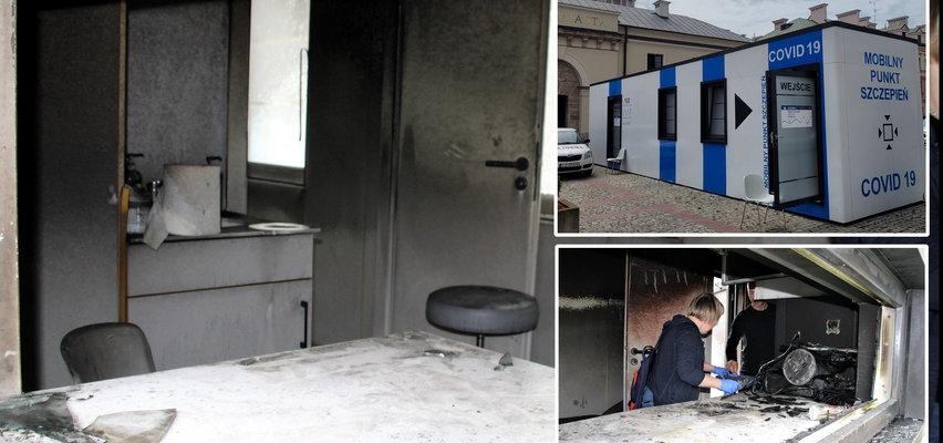 Antyszczepionkowcy podpalili punkt szczepień w Zamościu. Premier RP i Komendant Główny Policji: ataki nie będą tolerowane