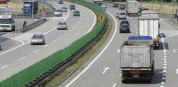 Naćpany kierowca zablokował ruch na autostradzie A4