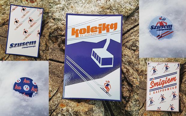 Kartki pocztowe i przypinki