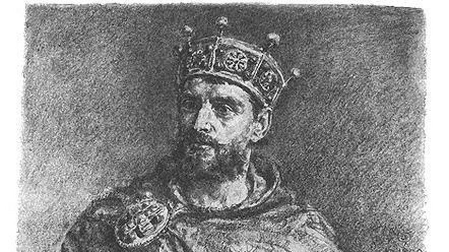 Mieszko II Lambert - Rysunek Jana Matejki z cyklu Poczet królów i książąt polskich - domena publiczna