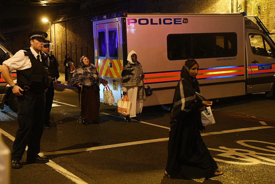BRITAIN LONDON FINSBURY PARK INCIDENT (Van hits several pedestrians near Finsbury Park mosque in north London)