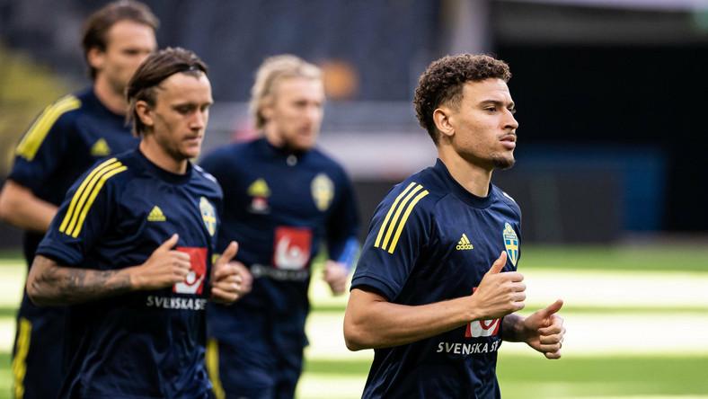Piłkarze reprezentacji Szwecji podczas treningu przed mistrzostwami Europy