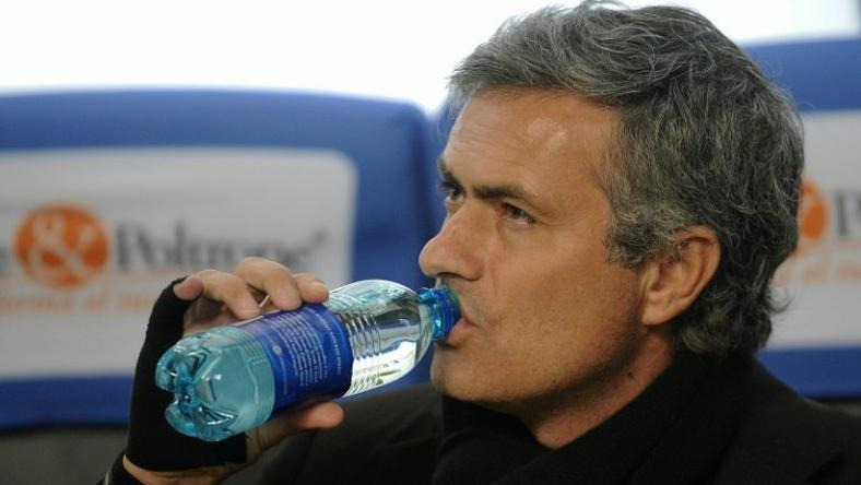 Jose Mourinho was sent to the stands after kicking a water bottle at Old Trafford