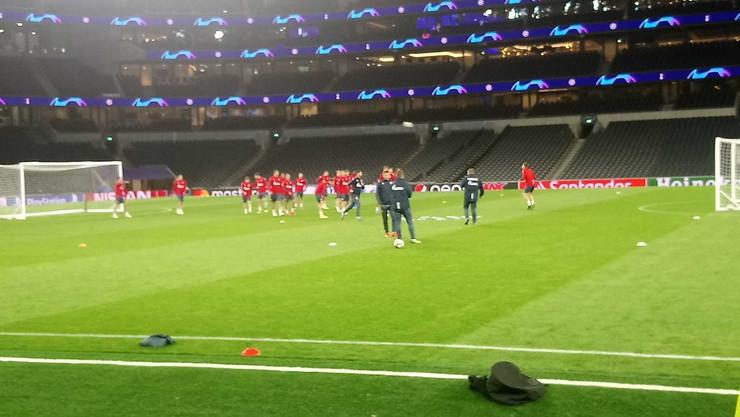 Trening Crvene zvezde u Londonu