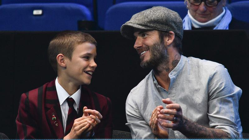 David Beckham z synem Romeo