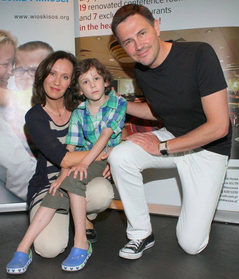 Krzysztof Ibisz z Anną Ibisz-Nowak i synem