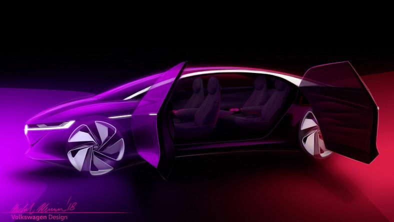 Volkswagen I.D. VIZZION, czyli całkowicie automatyczna limuzyna przyszłości. Bez kierownicy i pedałów