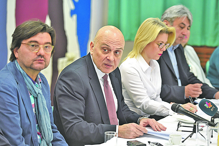 Novica Antić i ministar kuture Vladan Vukosavljević