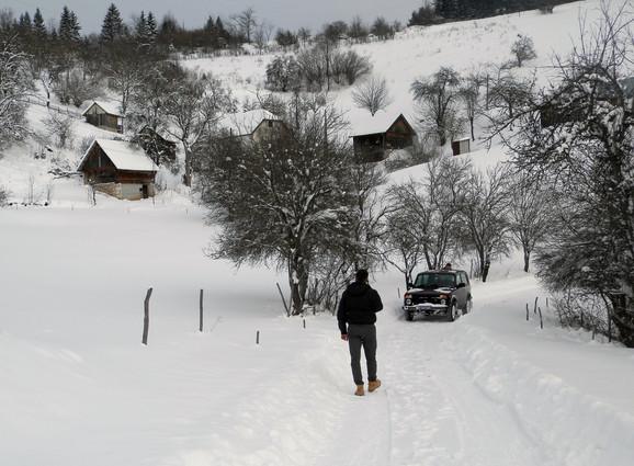 Do planinskih sela jeidno pešice ili terenskim vozilima, selo Debelja kod Nove Varoši