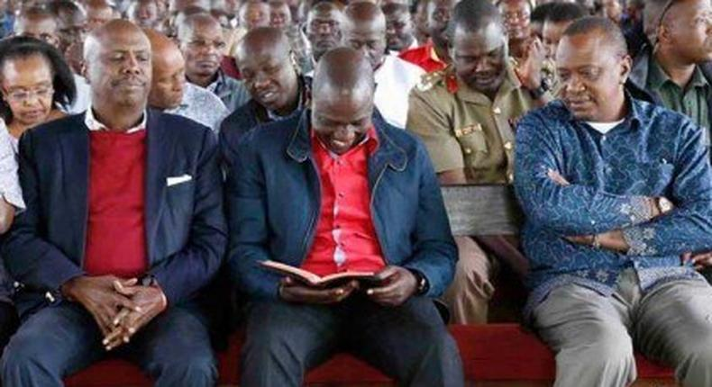 Gideon Moi, DP William Ruto and President Kenyatta