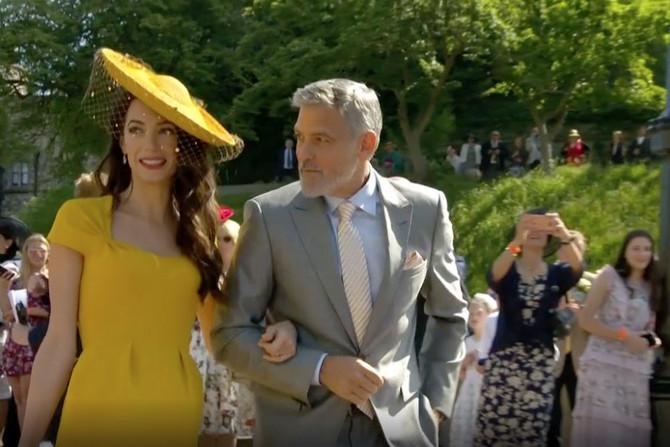 Džordž i Amal na venčanju Megan i Harija