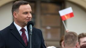 """Prezydent Andrzej Duda uczestniczył w premierze filmu """"Wyklęty"""""""
