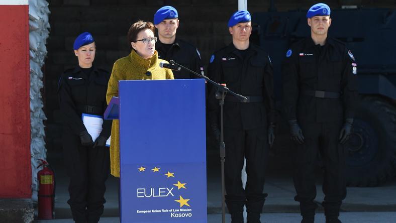 Ewa Kopacz w Kosowie