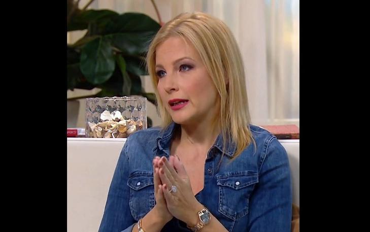 Várkonyi Andrea ezt a Mszáros Lőrinctől kapott ékszert viselte a TV2 műsorában/ Fotó: TV2