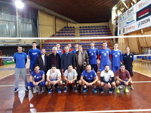 Zoran Gajić sa odbojkašima Spartaka u Subotici