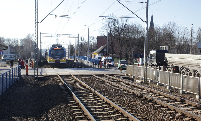 Przejazd kolejowy na Oruni