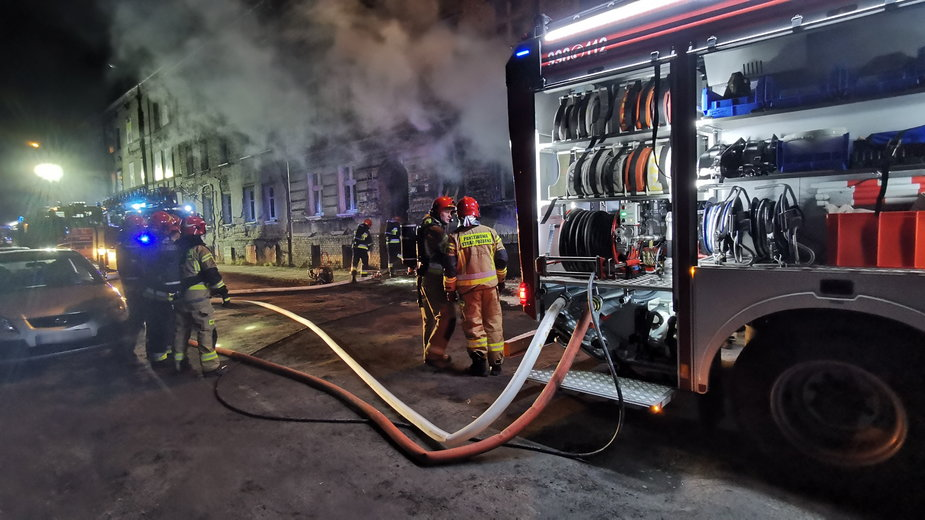 Pożar w kamienicy w Gorzowie