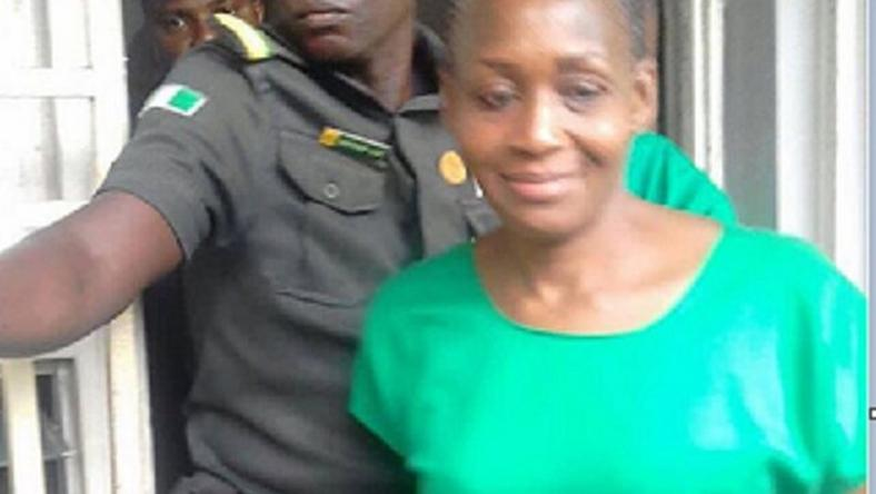 Kemi Olunloyo, seen in a prison uniform. was released on Monday, January 22, 2018.