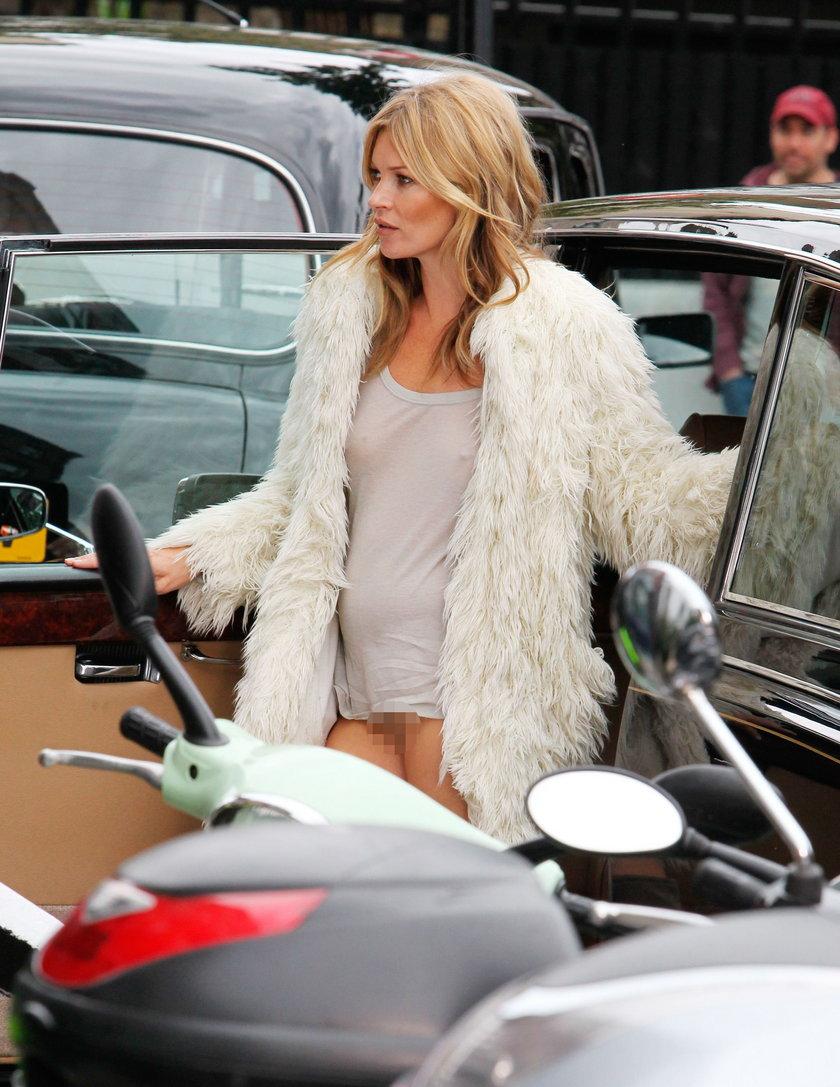 Kate Moss pokazała się bez majtek