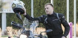 Przykry wypadek Gesslera na motorze