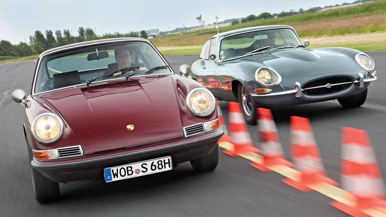 Porsche 911 S kontra Jaguar E-Type 3.0 FHC - tylko to, co najlepsze