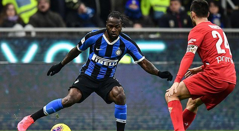 Victor Moses makes his Inter debut