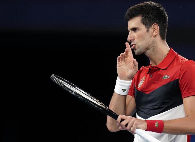 Novak Đoković na meču protiv Kevina Andersona