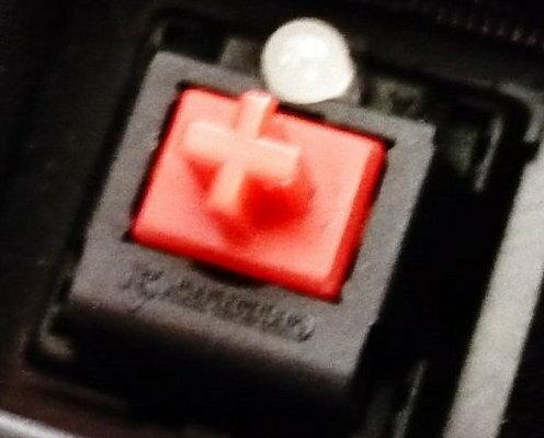 Przełączniki QPAD MK-70 (Cherry MX Red), fot. własne