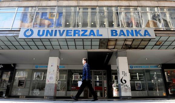 Isključena iz sistema knjiženja: Univerzal banka