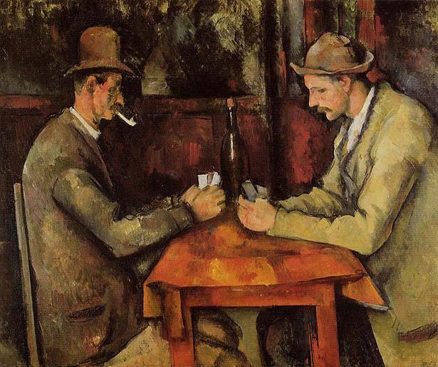 """Paul Cézanne - """"The card players"""". Z ceną 259 mln USD osiągnął status najdroższego obrazu w historii"""