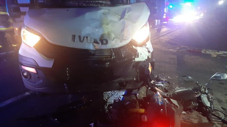 Miejsce wypadku w Piaskach. Fot. KPP Kępno