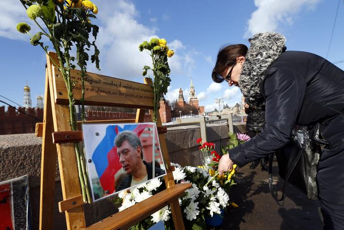 First anniversary of Boris Nemtsov's murder