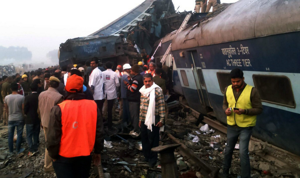 INDIA TRAIN ACCIDENT (Over 60 killed in train accident in Uttar Pradesh, India)