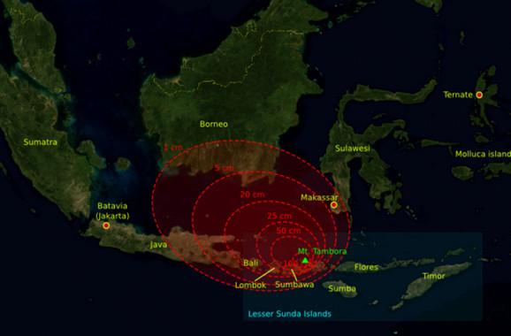 Procena eksplozije vulkana Tambora 1815. godine