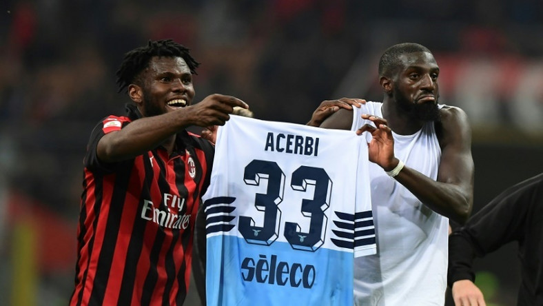Franck Kessie and Tiemoue Bakayoko wound up Lazio defender Francesco Acerbi after AC Milan's win at San Siro