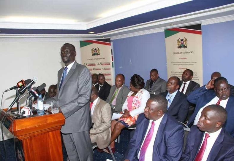 Council of Governors during a past presser