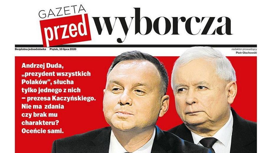 """Okładka """"Gazety Przed-Wyborczej"""""""