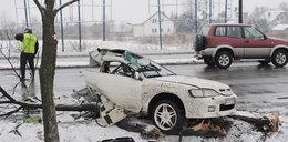 Auto rozpadło się na pół. 2 osoby nie żyją! ZDJĘCIA