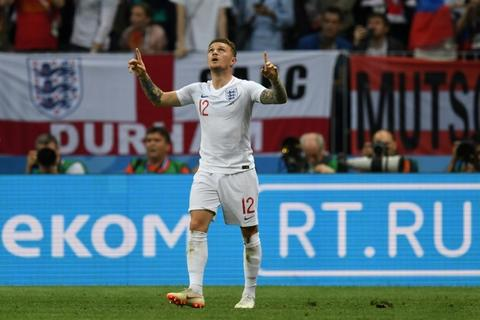 Kieran Trippier scored his one England goal in a World Cup semi-final
