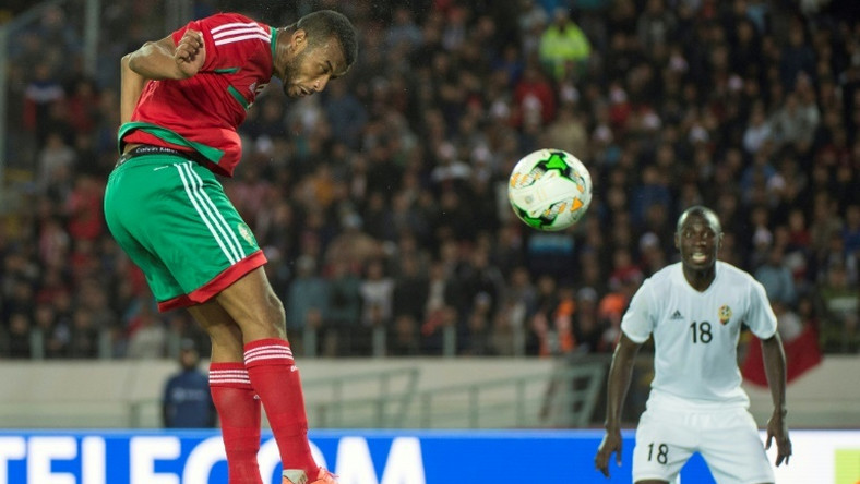 Ayoub el Kaabi scores one of his nine goals that helped hosts Morocco win the 2018 African Nations Championship