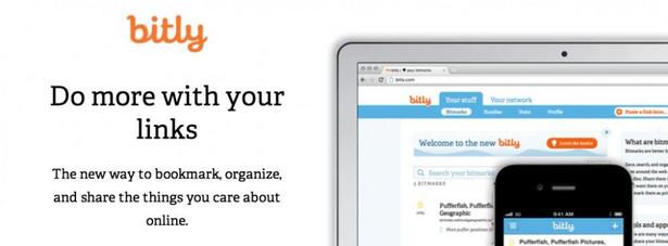 bitly bitly, to aplikacja umożliwiająca skracanie zbyt długich linków, jak również ich zapisywanie, katalogowanie oraz pomiar oglądalności. (fot. www.bitly.com)