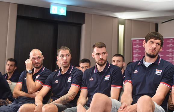 Košarkaška reprezentacija Srbije na prvom okupljanju pred ovogodišnje Svetsko prvenstvo
