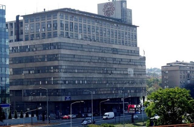 Zgrada BIGZ-a kod Beogradskog sajma