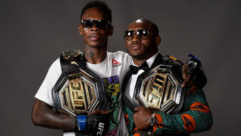 Israel Adesanya and Kamaru Usman are the two Nigerians who have belts in the UFC  (Twitter/Style Bender)