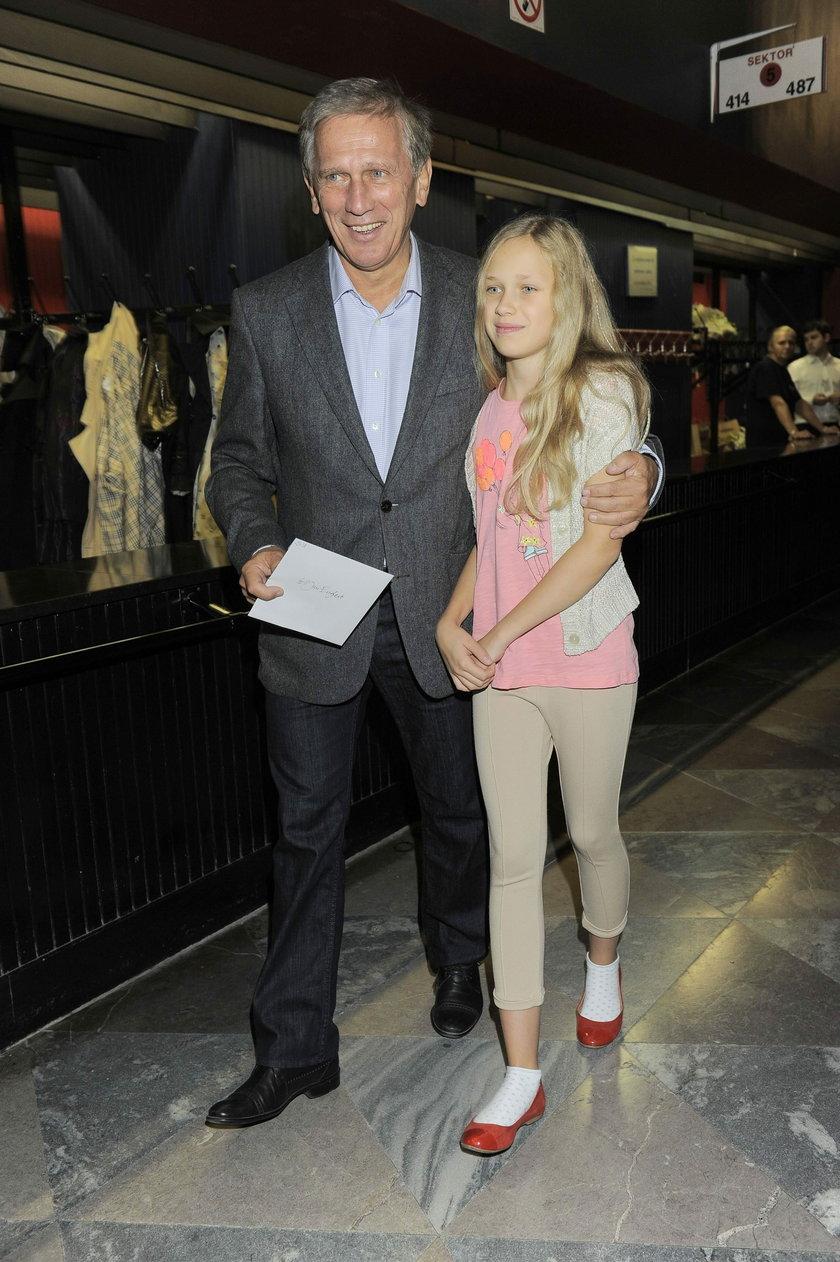 Jan Englert z córką