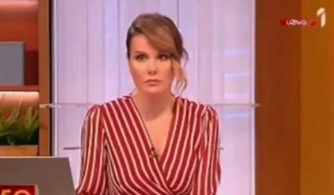 Neočekivana situacija uživo u emisiji: Svi su bili iznenađeni voditeljkinom reakcijom! VIDEO